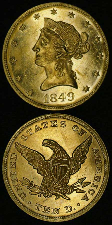 1849-$10-gold-liberty-eagle-no-motto
