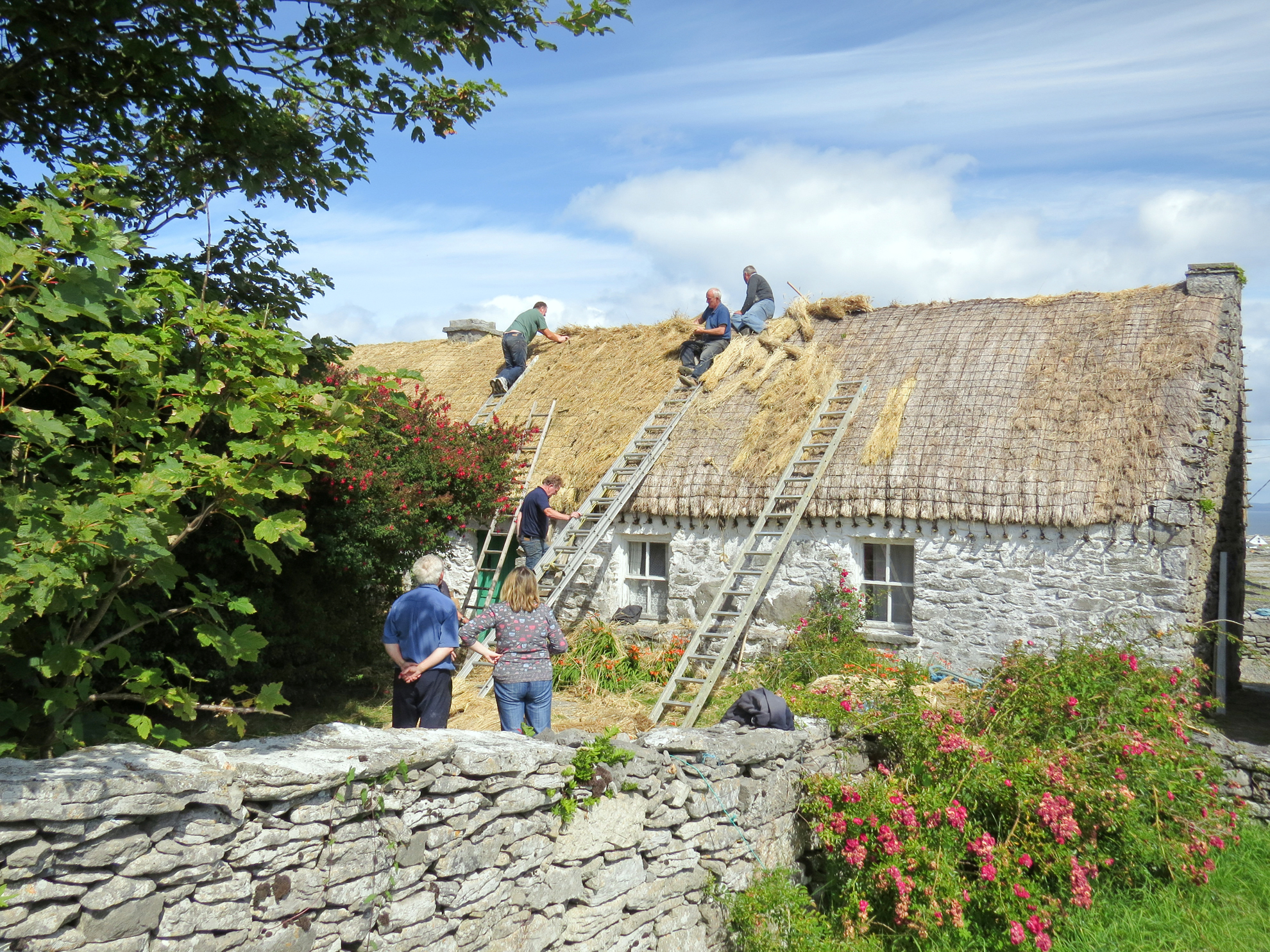Thatching Synges Cottage