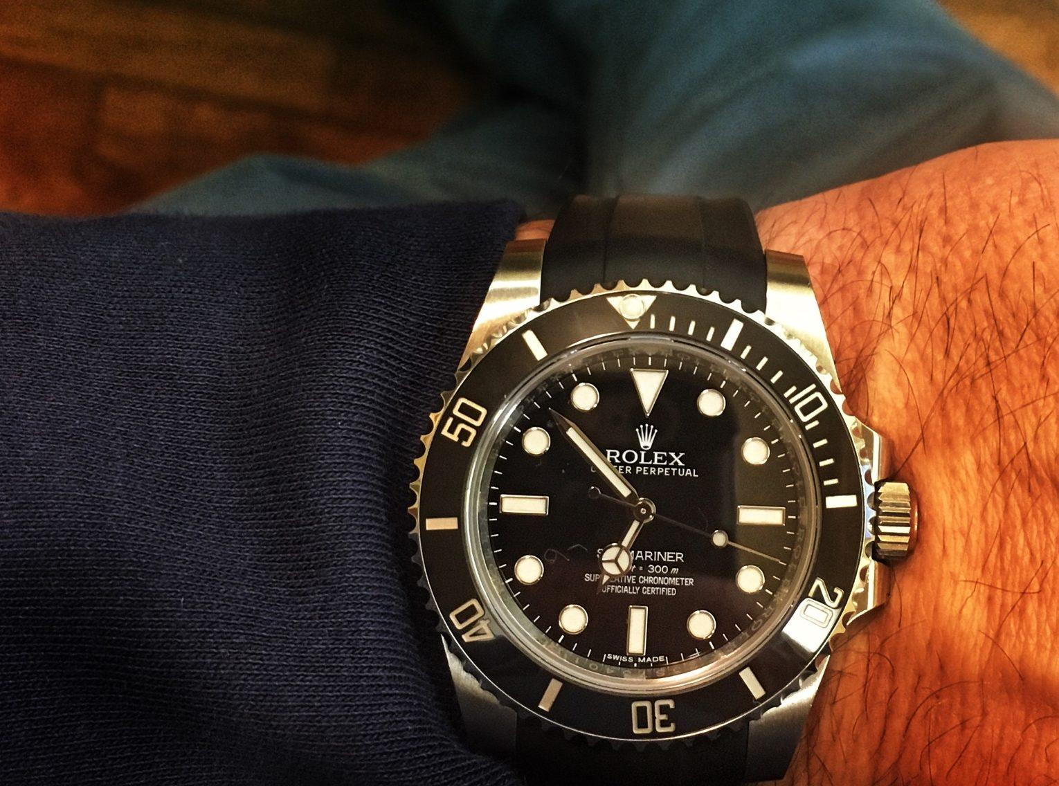 Rolex Rubber Review Of Rubberb Strap On Rolex Submariner Colawatch