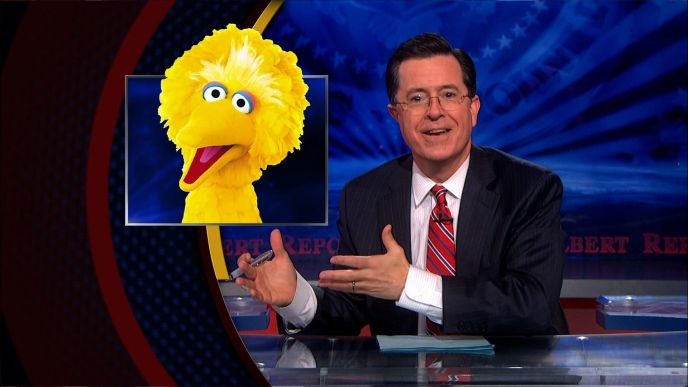 Stephen Colbert on Big Bird