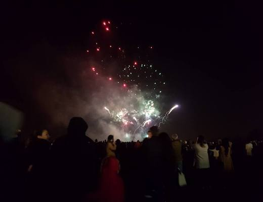 Fireworks at Heaton Park #coldcuppaclub