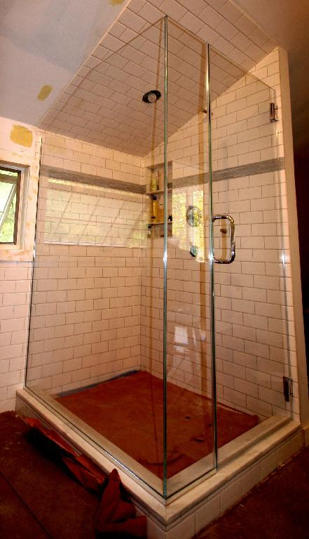 Custom Showers Angled Ceiling Frameless Applications: Cold Spring Shower