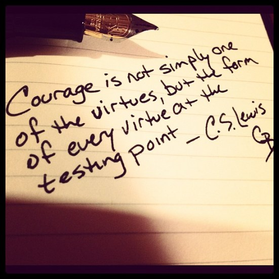Virtuous courage