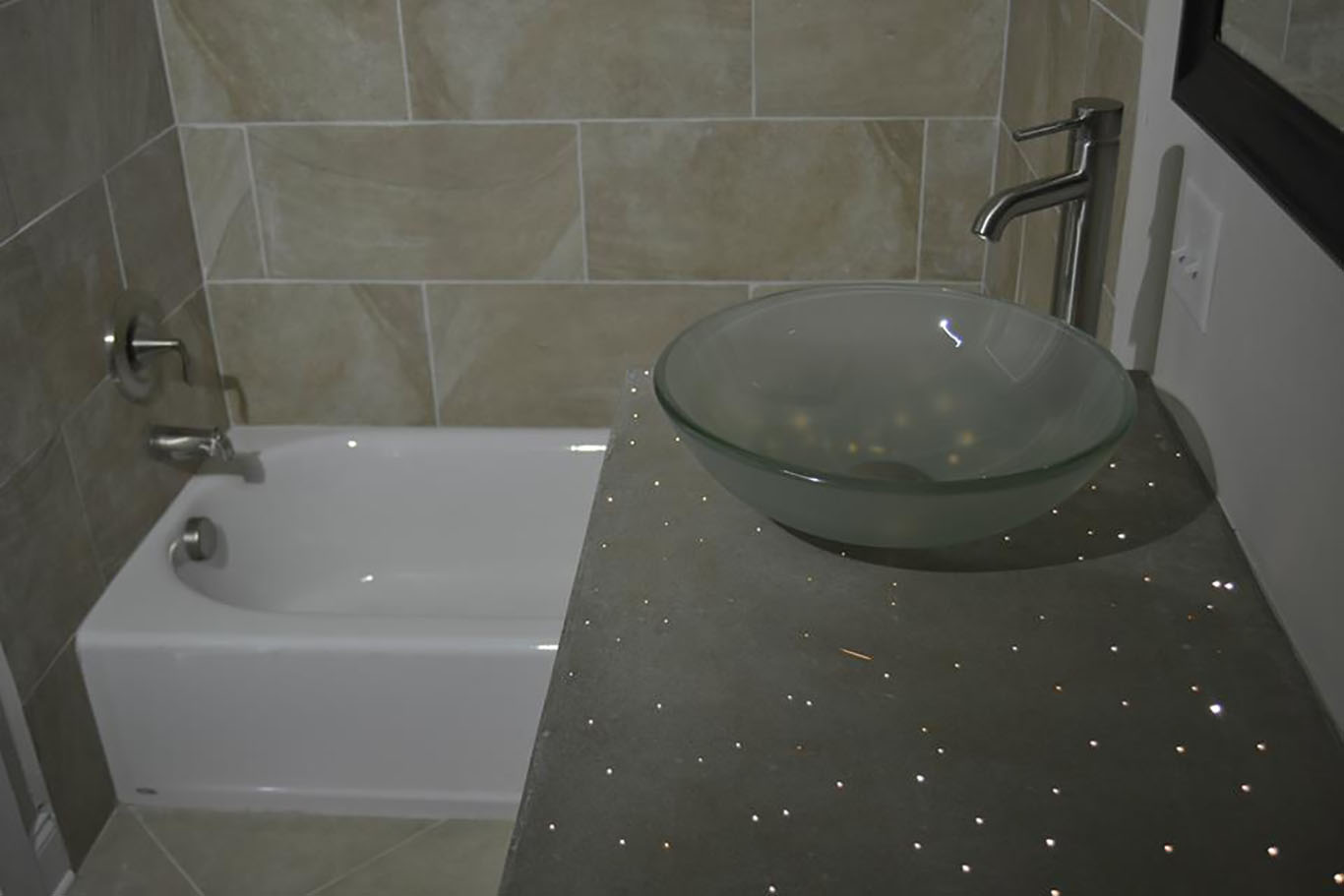 Fiber Optic Countertop Bathroom Remodel Chattanooga Custom Home Builder Cole