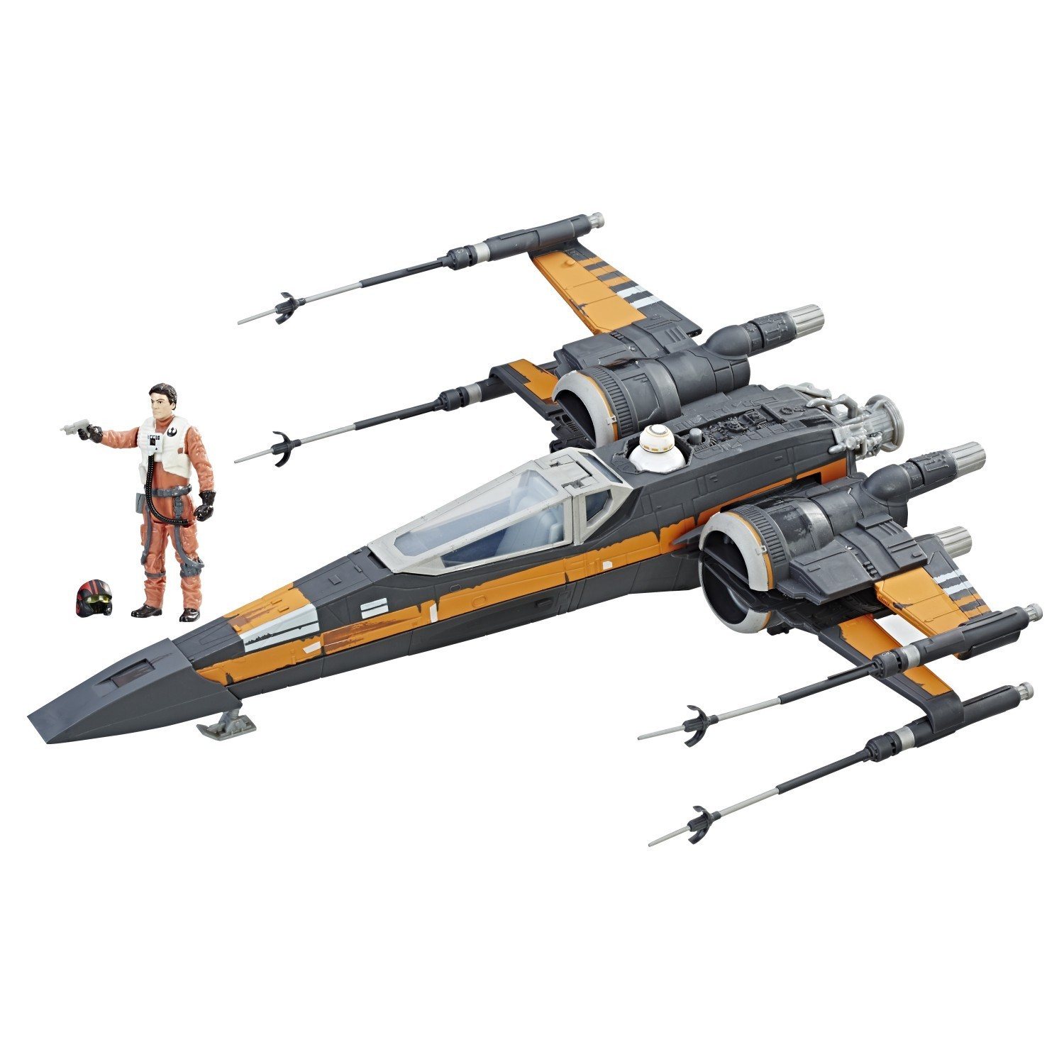 Disney Diecast X Wing Poe S Boosted X Wing Fighter The Last Jedi Action Figure