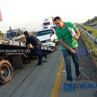 Se registra carambola en ellibramiento Colima-Manzanillo