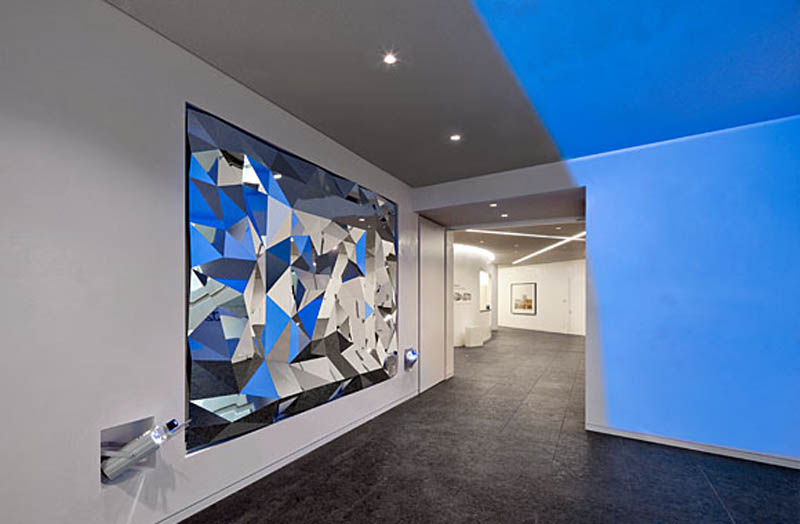 Interior Design Berlin Art+com: Anamorphic Mirror | Collabcubed