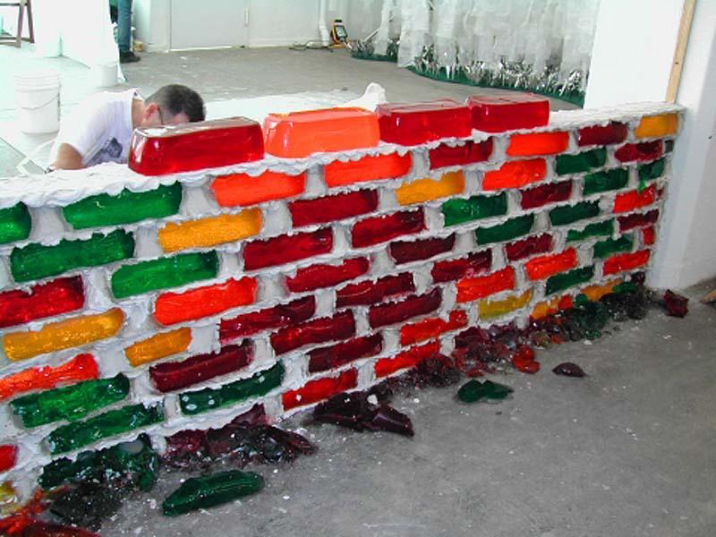 Jell o brick wall jello brick wall by lisa hein and robert seng