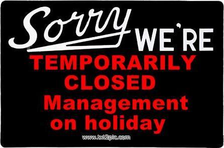 Office Closed Sign Template - lektoninfo