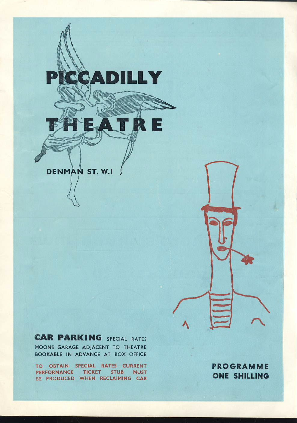 Bip De Garage 1962 Piccadillly Theatre Marcel Marceau Exercised De Style And Pantomimes Programme C449