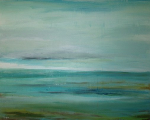 the blue landscape painting buying canadian art janet bright