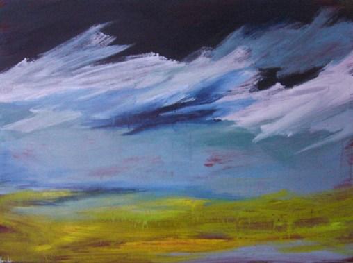 du blé landscape painting clouds buying canadian art janet bright