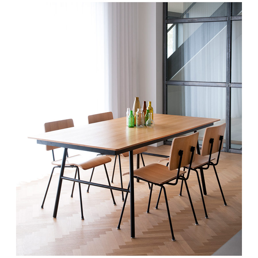 Modern Dining Table Chairs School Dining Table Natural Oak