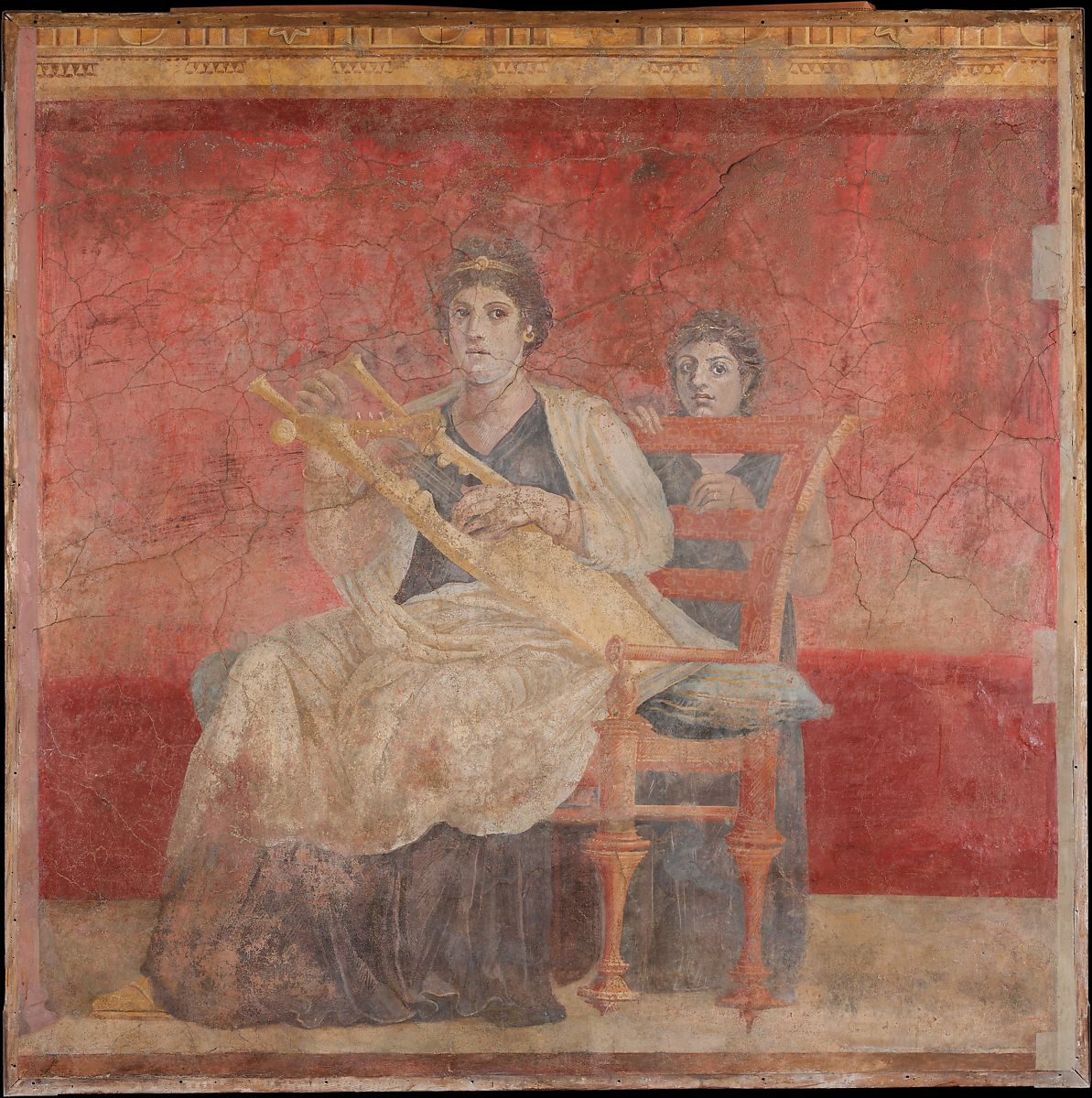 La Pittura Ellenistica Romana Wall Painting From Room H Of The Villa Of P Fannius Synistor At