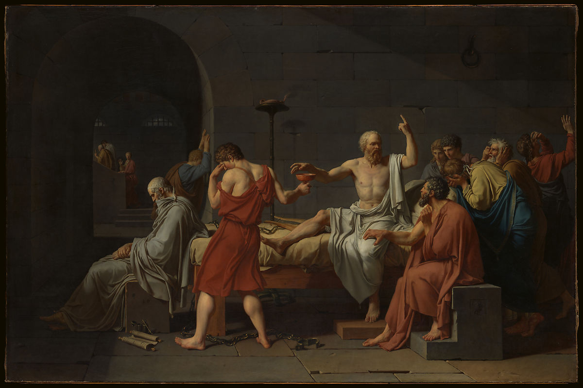 Arte Definition Francais Jacques Louis David The Death Of Socrates The Met