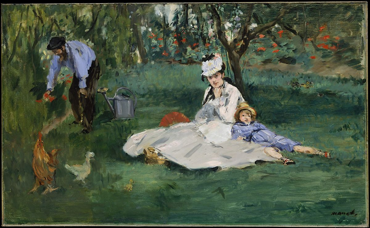 Photo Argenteuil Édouard Manet The Monet Family In Their Garden At Argenteuil