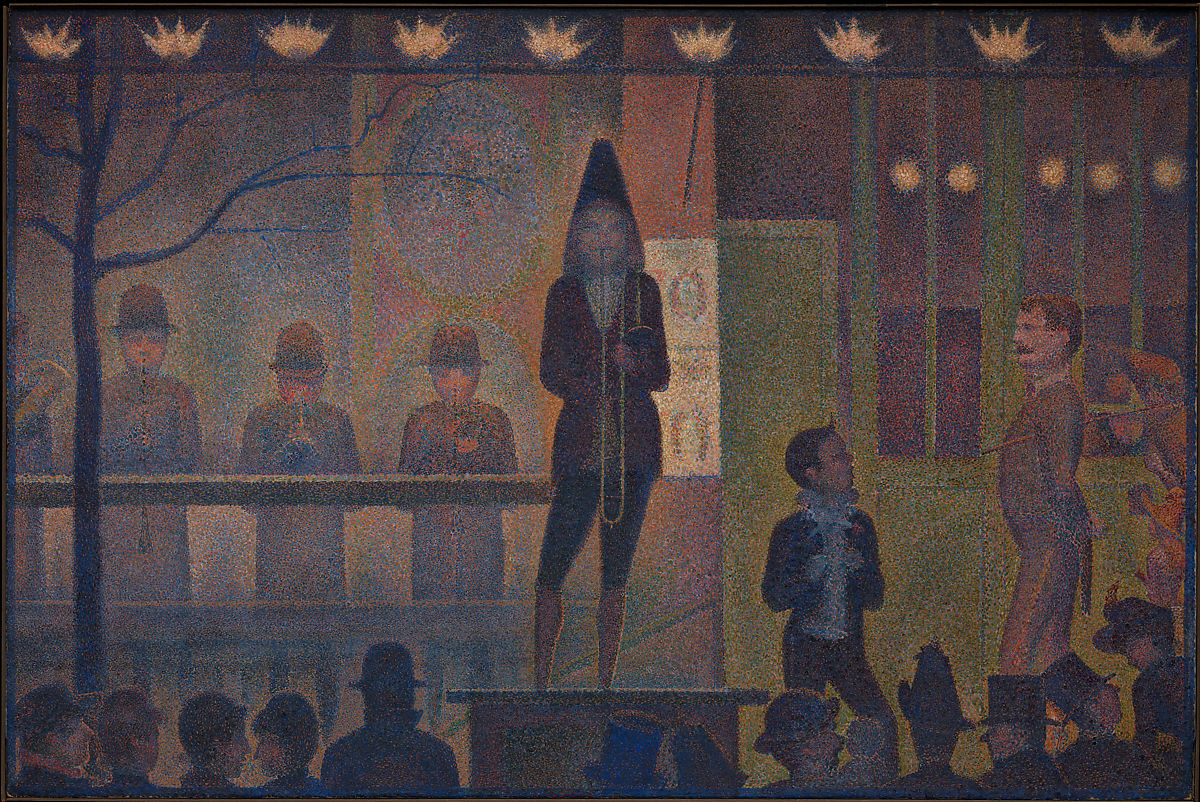 Arte Definition Francais Georges Seurat Circus Sideshow Parade De Cirque The Met