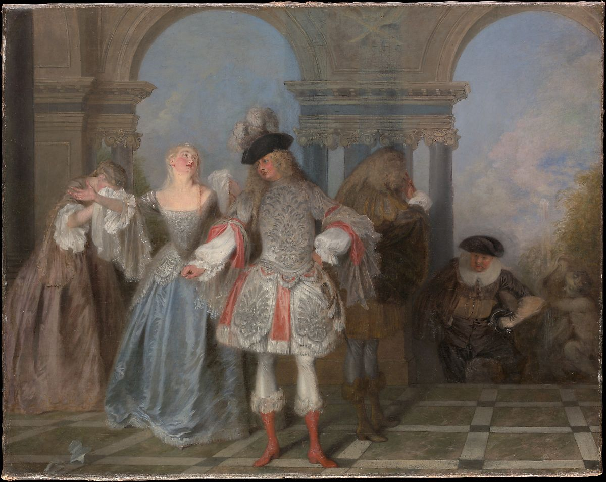Arte Learn French Antoine Watteau The French Comedians The Met