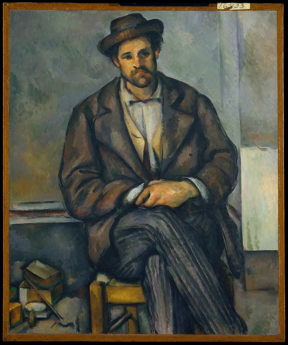 Support Tableau Paul Cézanne | Seated Peasant | The Met