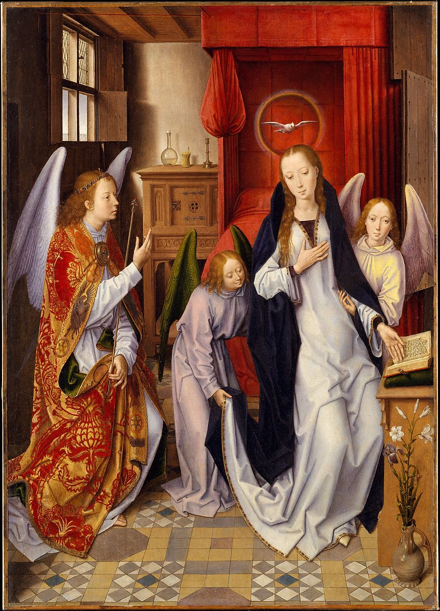 Arte Johnson Age Hans Memling The Annunciation The Met