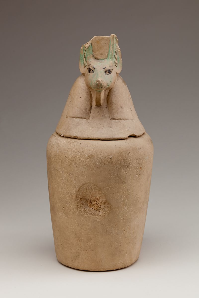 Gift Set Canopic Jar Representing The Deity Duamutef | Late Period