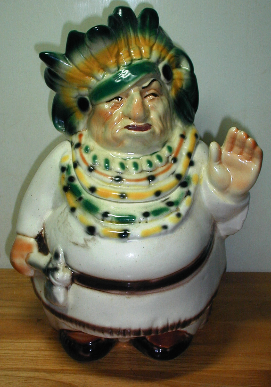 Nice Cookie Jars Indian Chief By Lane And Company Collector Cookie Jar