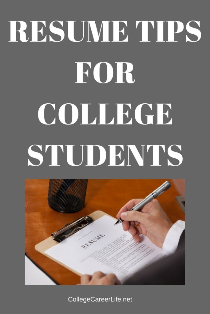 Resume Tips for College Students - College, Career, Life