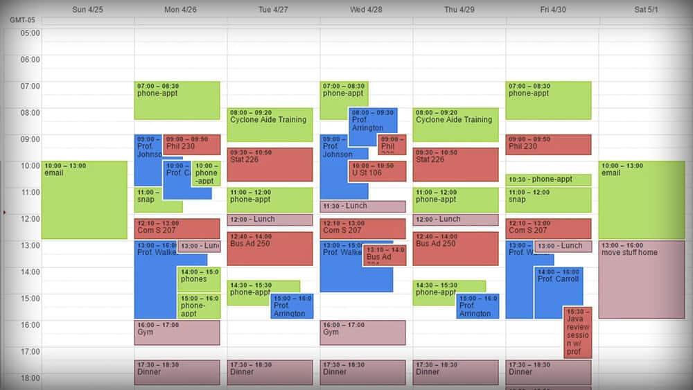 How I Use My Calendar Efficiently