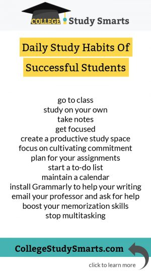 Most Important Habits of Successful College Students - College Study