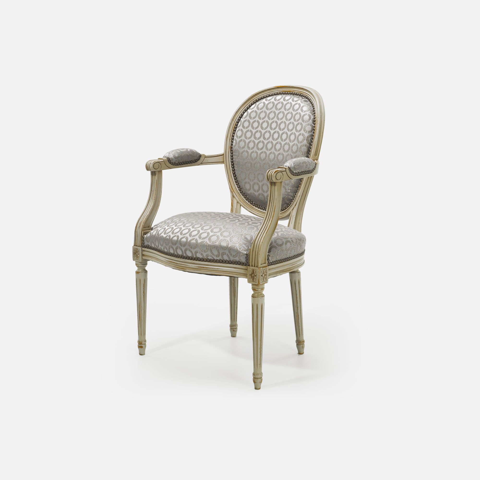 Fauteuils Medaillon Medallion Armchair For Hotel Restaurant Bar Louis Xvi Collinet