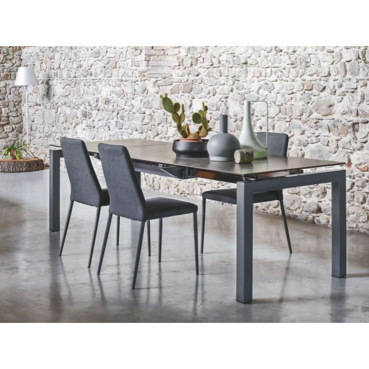 Table Extensible Ceramique Tavolo Airport Connubia Calligaris Allungabile Con Piano