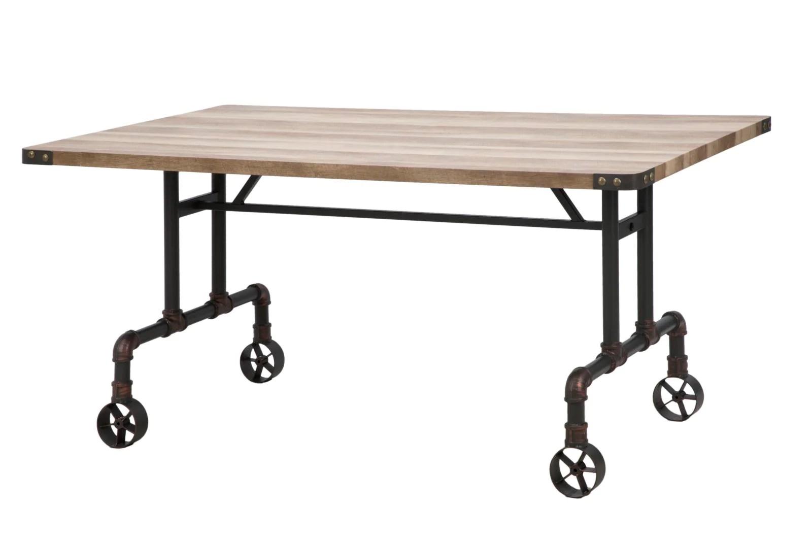 Tavoli Da Pranzo In Legno Riciclato : Vendita tavolo tavolo industrial legno riciclato mobili vendita