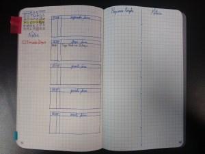 Exemplo de bullet journal no trabalho.