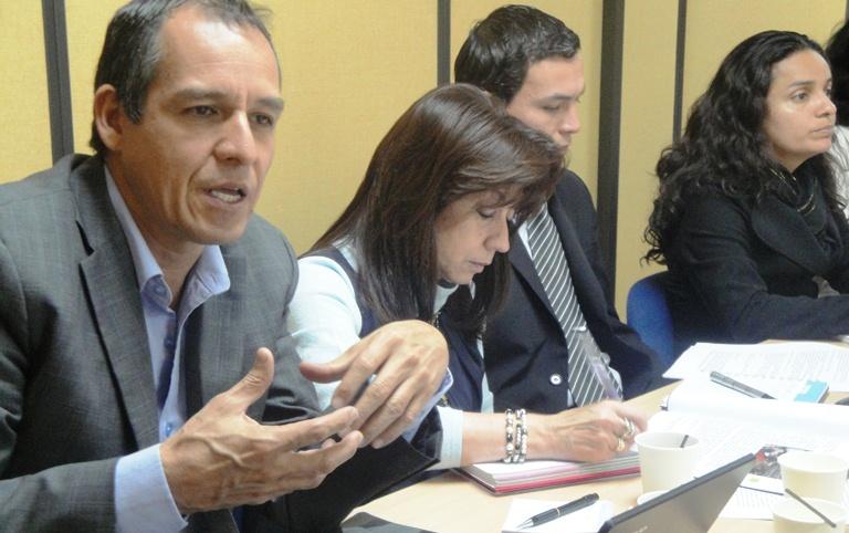 Director de la CCCM, Álvaro Jiménez Millán, durante el encuentro.
