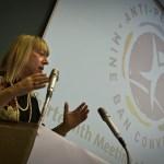 La Premio Nobel de la Paz, Jody Williams, durante su discurso en la 13a Reunión de Estados parte de la Convención sobre la Prohibición de las Minas Antipersonal ©Giovanni Diffidenti – ICBLL