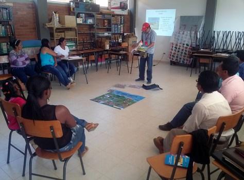 Taller de Educación en el Riesgo de Minas con líderes comunitarios en el municipio de Suárez (Cauca)