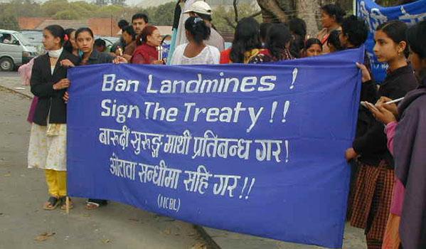 Ban Landmine Campaign Nepal © ICBL