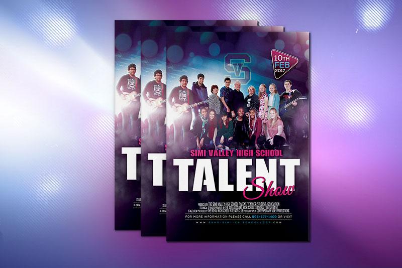 talent-show-flyer Colonfilm Graphic Design