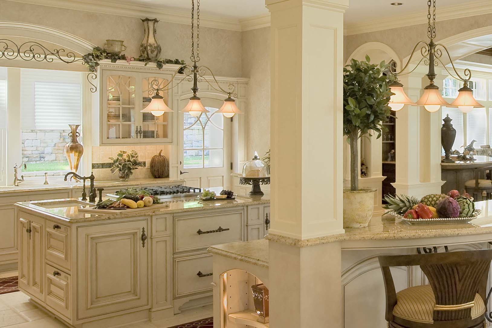 French White Kitchen Cabinets French Colonial Kitchen Colonial Craft Kitchens