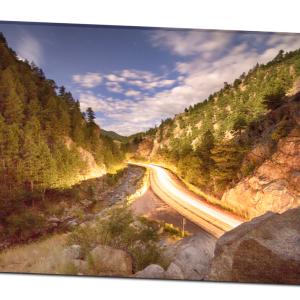 Boulder Canyon Canvas Art Print