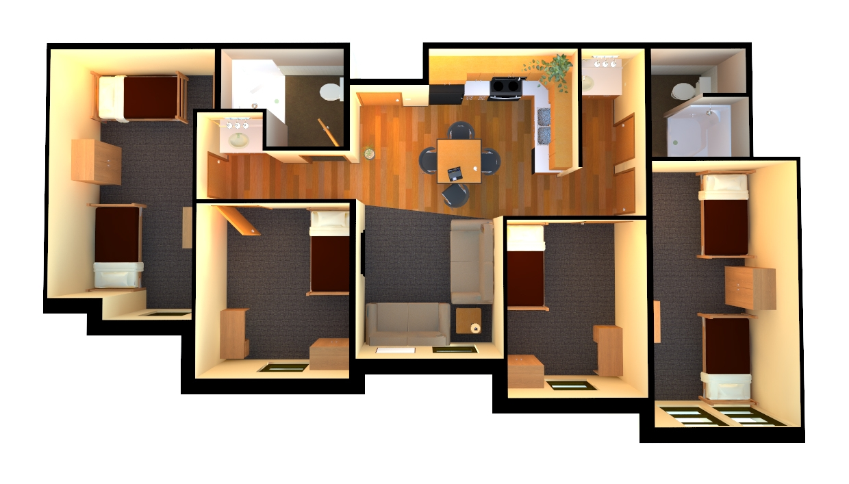 Dorm Room Furniture Layout Lucero Hall Suites And Apartments (formerly North Avenue