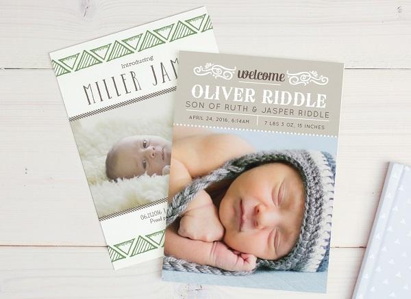 Custom Birth Announcements Basic Invite 100\u0027s of Colors  Designs