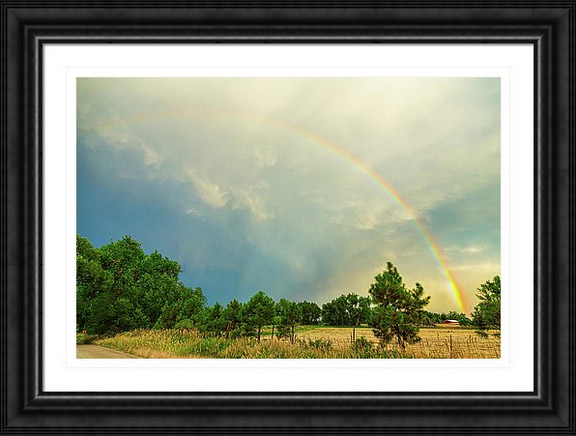 Just Another Colorado Rainbow Framed Print