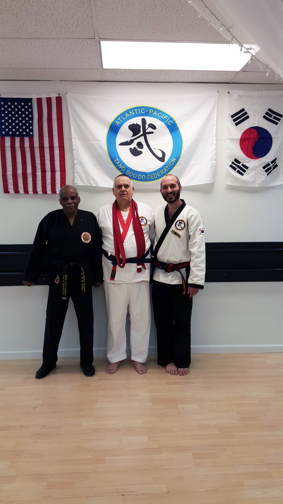 David with his first instructor and Master Farquharson
