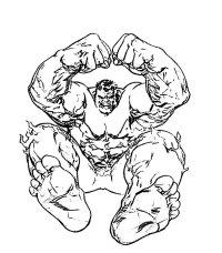Disegni Hulk Da Stampare E Colorare Disegno Di Hulk In Piano
