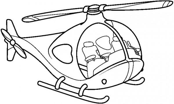 Dibujos De Medios De Transportes Aereos Para Pintar