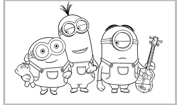 Minion Coloring Pages Online - Costumepartyrun