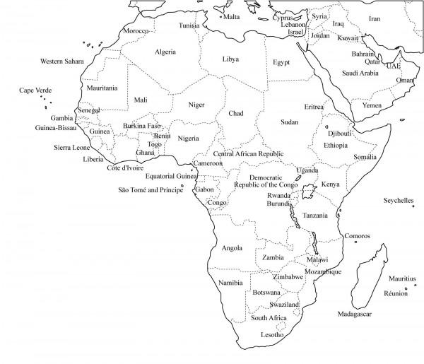 Continente Africano Mapas | cvfree.pro