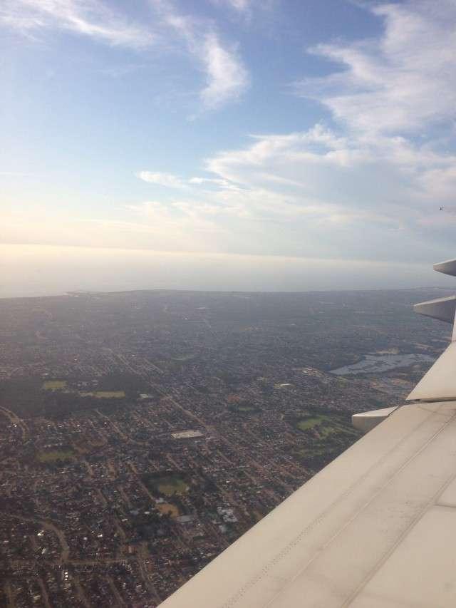 Landeanflug auf Perth