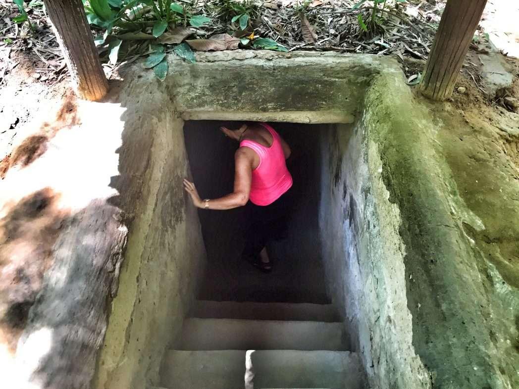 Das Tunnelsystem der Vietcong-Kämpfer